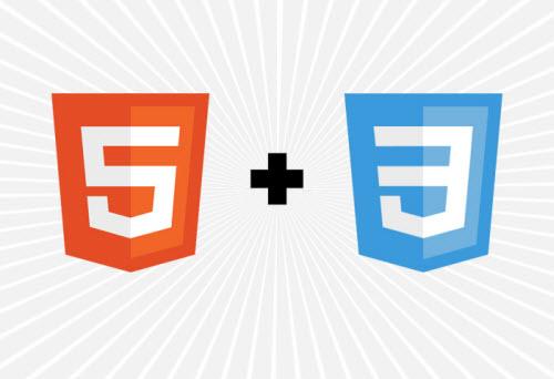 Logos der Auszeichnungssprache HTML5 und der Formatierungssprache CSS3