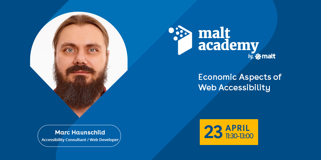 Economic Aspects of Web Accessibility: Talk by Marc Haunschild on April 23rd - see article for more details